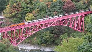 2018.11.03 黒部峡谷鉄道 新やまびこ橋を俯瞰