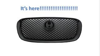 It Arrived! My Jaguar XF grill in piano black