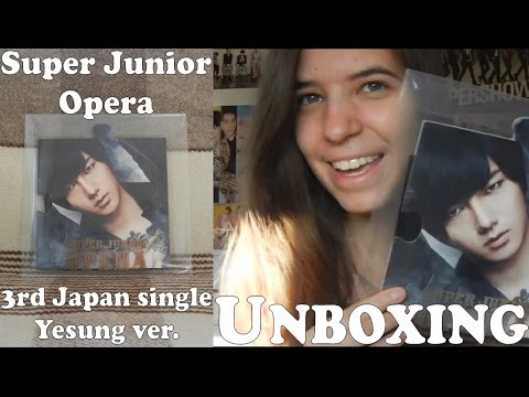 Unboxing - Opera Yesung puzzle piece - Limited CD Only ver. - Super Junior 3rd Japan single