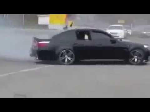 Albanian Mafia in France drifting a BMW///M5