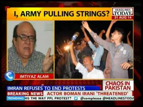Anarchy in Pakistan with Imran Khan's protesters refusing to backdown