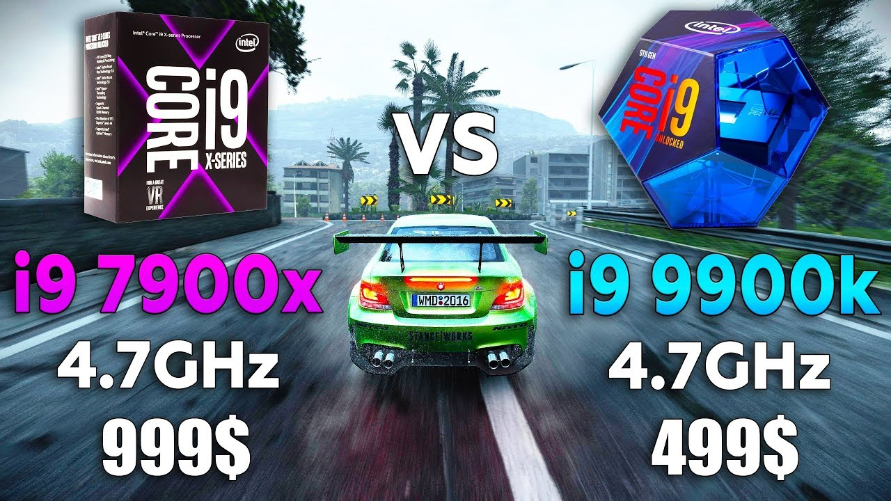 i9 7900x vs i9 9900k Test in 8 Games