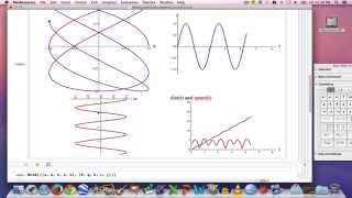 Multivariable Calculus, Part 12 (using Mathematica to visualize parametric curves)