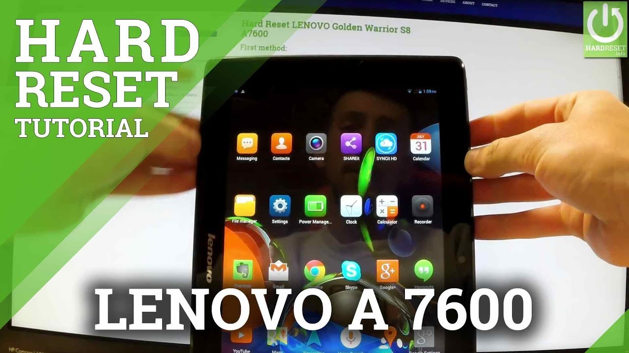 How To Hard Reset Lenovo A1070 A7600  Remove Password