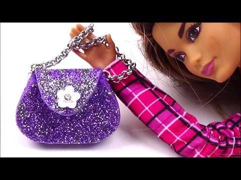 Diy Barbie purse │ Doll  bag diy │ Easy doll bag tutorial │ Barbie bag diy