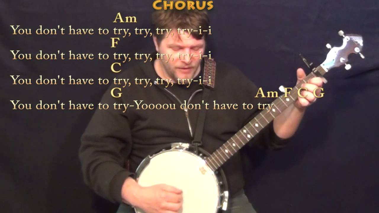 Try Colbie Caillat Banjo Cover Lesson With Chordlyrics Capo 1st