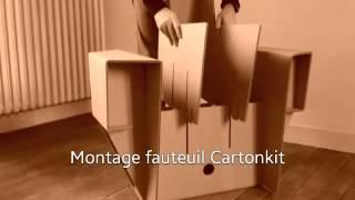 Video montage fauteuil en carton