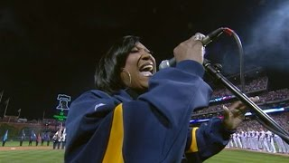 2008 WS Gm4: Patti LaBelle sings the national anthem