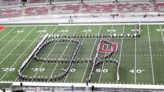 OSUMB Script Ohio at the 10 11 2014 Buckeye Invitational.  Ohio State Marching Band TBDBITL