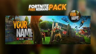 FREE GFX: Fortnite Social Media Rebrand Pack (YouTube Banner, Twitter Header, Logo/AVI)