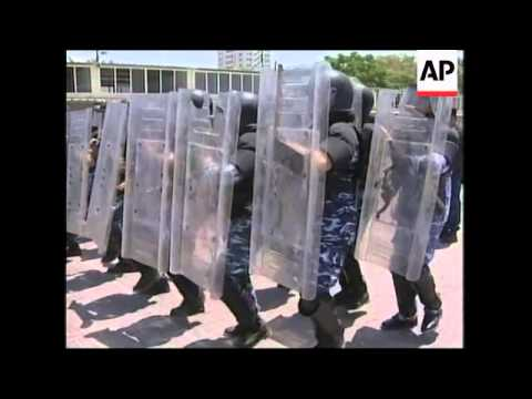 Training of Palestinian police forces in Gaza