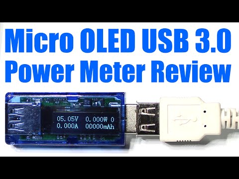 Micro OLED USB 3.0 Power Meter / Logger Review (Volts/Amps/Watts/mAH/mWH) - #0080