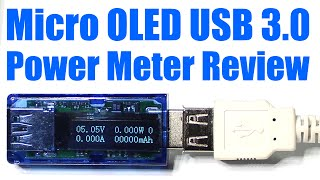 micro oled usb 3 0 power meter logger review volts amps watts mah mwh 0080