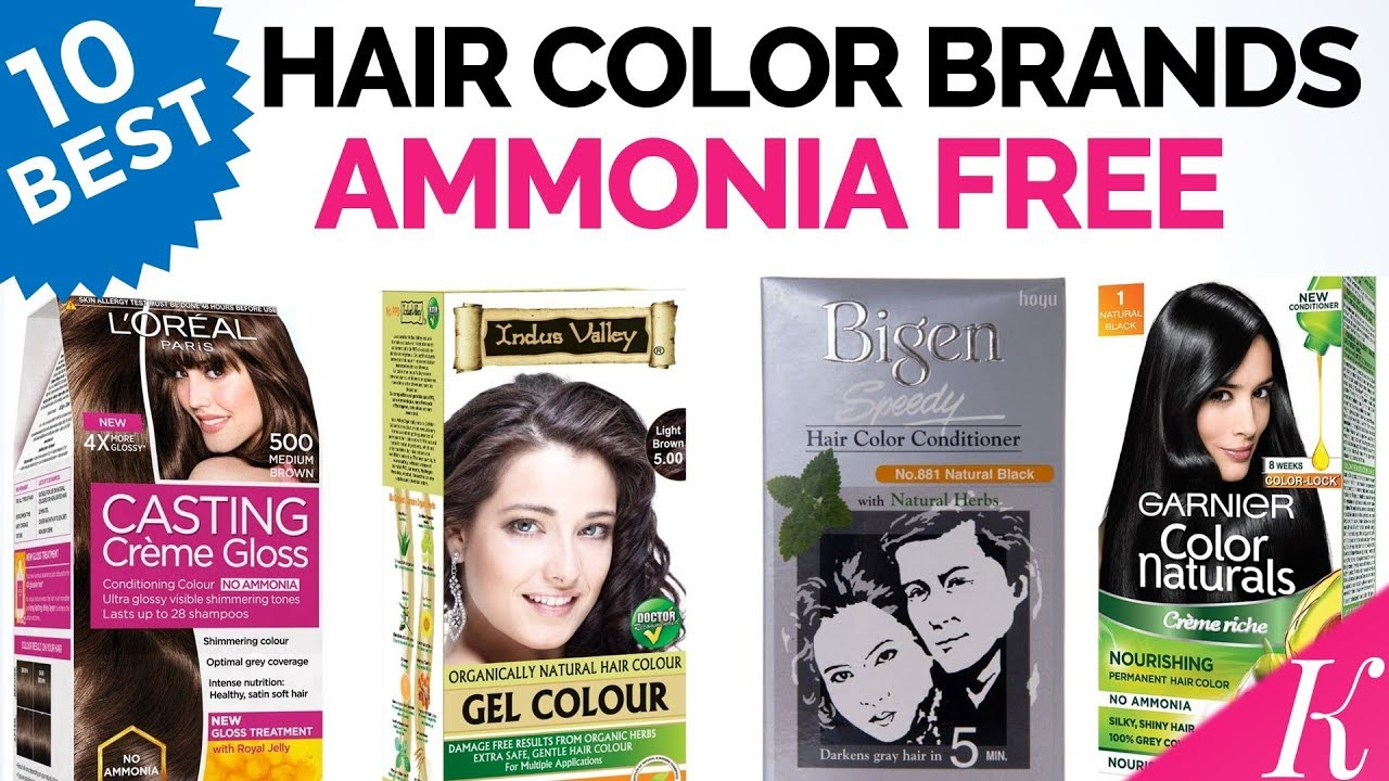 10 Best Ammonia Free Hair Color Brands In India With Price Youtube