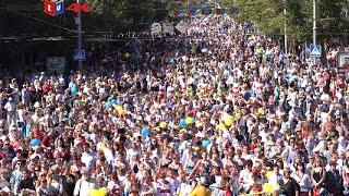 В честь Дня города тысячи мариупольцев надели вышиванки