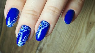 Простой дизайн - имитация кружева на ногтях/аппаратный маникюр