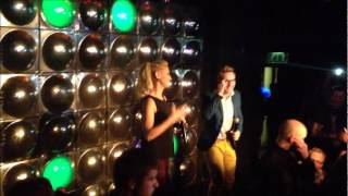 Faye & H from Steps introduce S Club on stage at Pulse (2012)