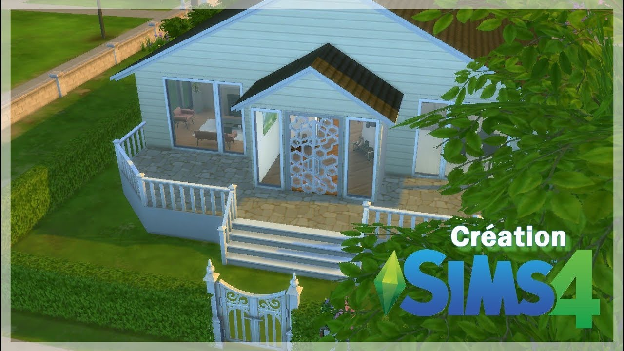 Petite Maison Plein Pied Speed Build Creation Les Sims 4 Youtube