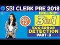 SBI CLERK PRE 2018   500 Error Detection (Part -3)   English   Day-12