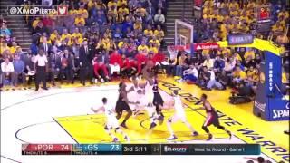 Portland Trail Blazers vs Golden State Warriors Full Game Highlights Game 1 2017 NBA Playoffs