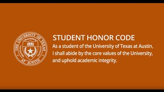 University of Texas Honor Code, Recited by McConaughey, Bush, more thumbnail