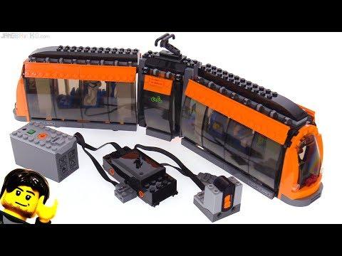 LEGO light rail tram + Power Functions motor & RC installed 60097 thumbnail