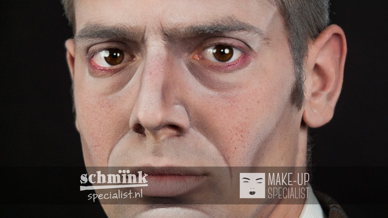Wonderlijk Ouder Maken Man Theater make-up Tutorial 011 - YouTube FX-25