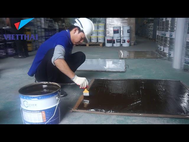 Cách thi công chất chống thấm pu  Clever 400bt 1k đàn hồi 2000 %