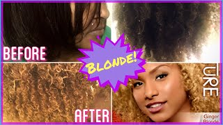 FROM BLACK TO BLONDE!! (No bleach)| CREME OF NATURE (GINGER BLONDE) | TY3RRA