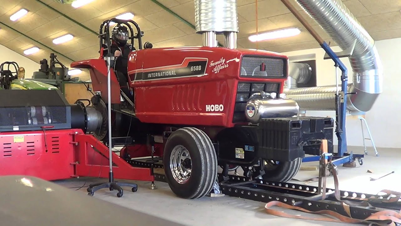 Dyno For Tractors : Tractorpulling dyno test hobo youtube
