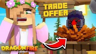 TRADING MY MYTH DRAGON EGG! | Minecraft DragonFire | Little Kelly