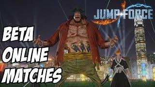 Jump Force Beta - Team Fade to Black - Blackbeard/Rukia/Ichigo Online matches