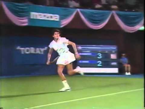 1988ジャパンオープンテニス女子1回戦井上悦子VSナタリエ・ビコバ ...