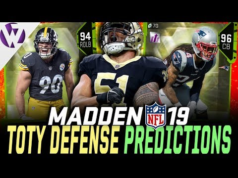 TEAM OF THE YEAR DEFENSE PREDICTIONS! - Madden 19 Ultimate Team
