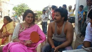 # ���ुवा ���िलों ���ी ���ड़कन Kajal Raghvani's Sarkar Raj  On Location Bhojpuri Movie 20161