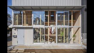 新建築住宅特集2021年4月号|明るい階段室|桐圭佑