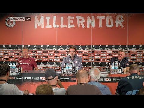 2. Spieltag   FCSP - SGD   Pressekonferenz nach dem Spiel