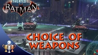 Batman Arkham Knight - Choice of Weapons - Using All 5 Batmobile Weapons in One Battle