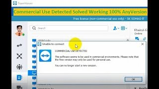 Teamviewer Commercial Use Detected