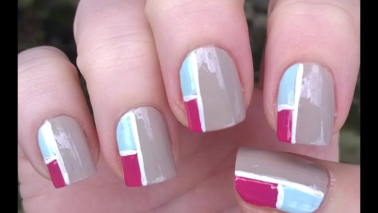 How To: MOSAIC Inspired NAIL ART Without Tools - Cute Nails At Home ...