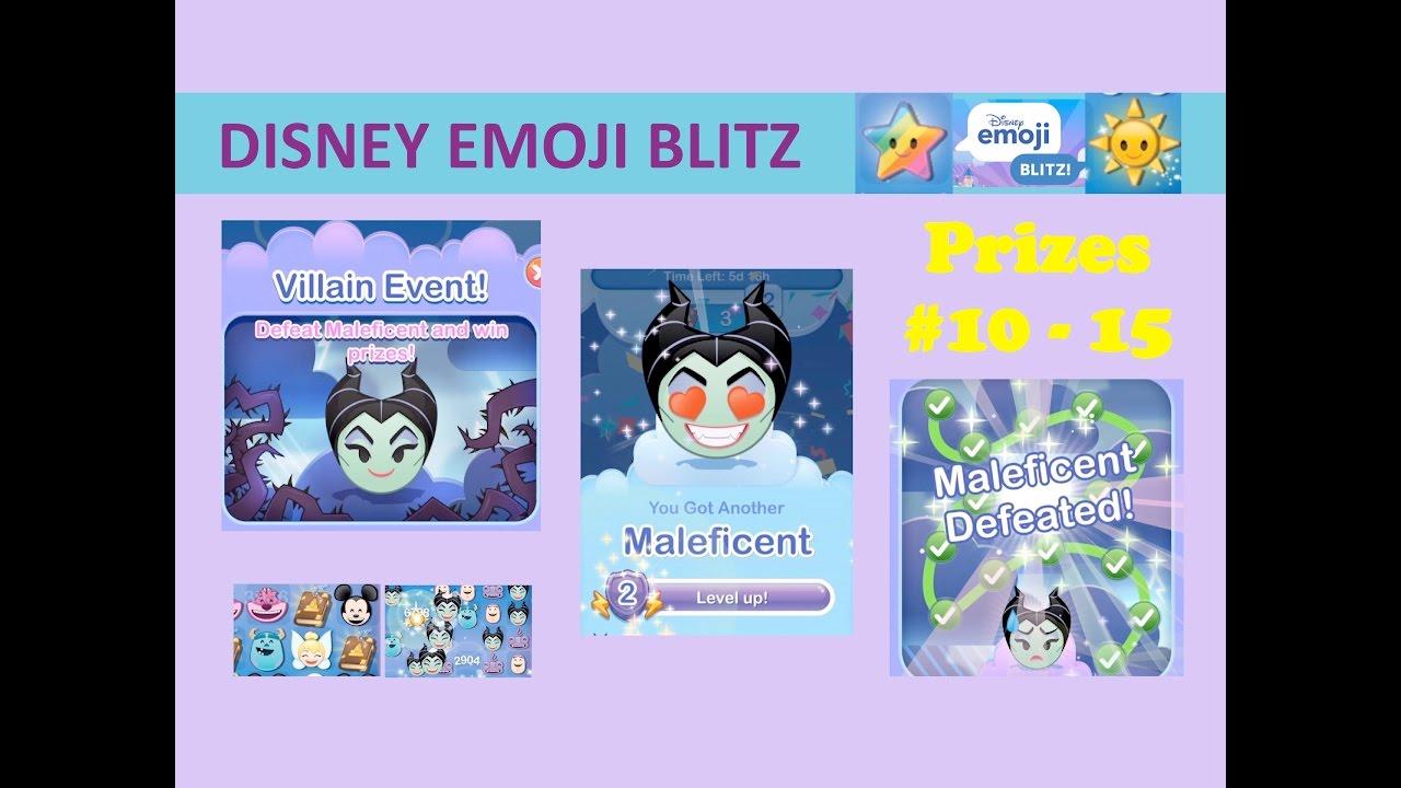 Disney Emoji Blitz Villain Event Maleficent Prizes 10 15 Maleficent Power 2 Gameplay