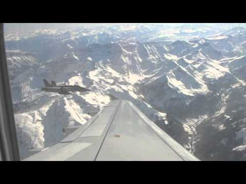 Adria Airways A319 intercepted by Swiss Air Force