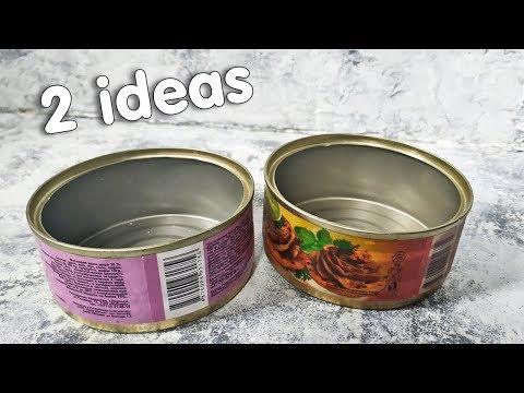 2 идеи красивой утилизации консервных баночек