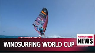 France's Albeau wins Fuerteventura Slalom Windsurfing World Cup