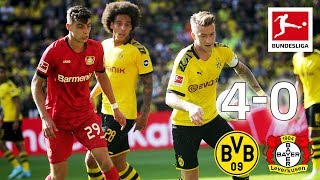 Borussia Dortmund vs. Bayer Leverkusen I 4-0 I Reus, Alcacer and Co. Score in Goal-Fest - Highlights