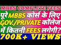 MBBS 5.5 YEARS COMPLETE FEE FOR GOVERNMENT/PRIVATE COLLEGES|MBBS KO PURA KARNE ME KITNI FEES LAGEGI?