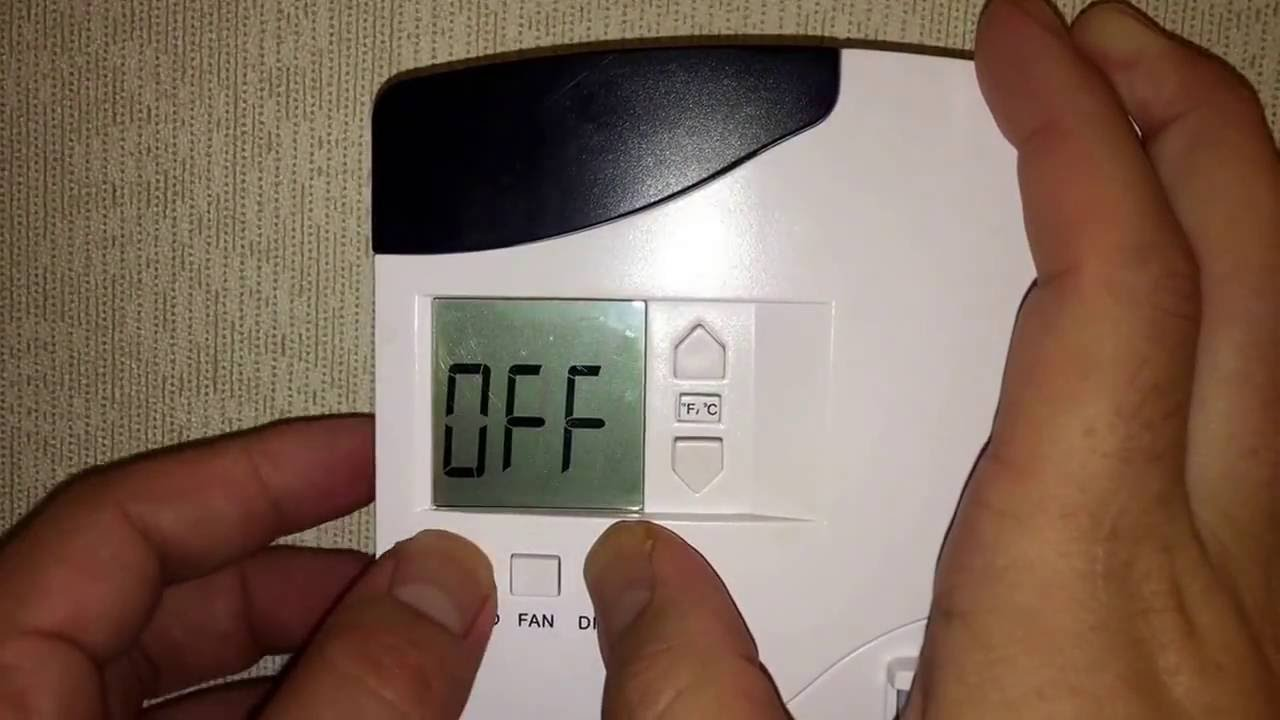 override hotel thermostat (vip mode on hotel inncom thermostat) - youtube