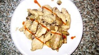Филе с грибами, отличное блюдо для спортсменов и не только.