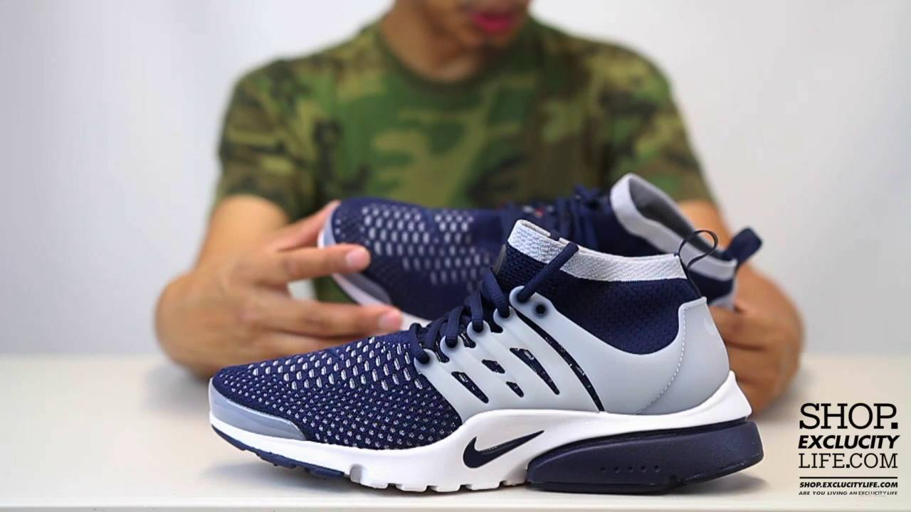 c9e5fc7d8ee1 Nike Flyknit Presto Ultra - Collage Navy - Unboxing Video at Exclucity
