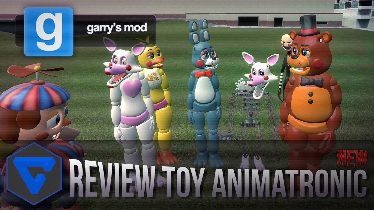 Five nights at freddy s new toy model animatronics review gmod